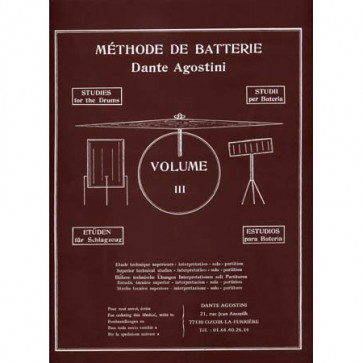DANTE AGOSTINI METHODE DE BATTERIE VOL.3