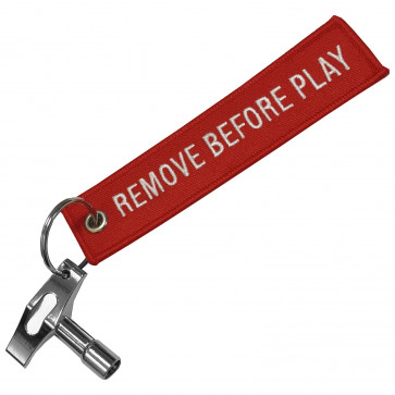 BAGUETTERIE CLE SERRAGE + PORTE-CLES REMOVE BEFORE PLAY