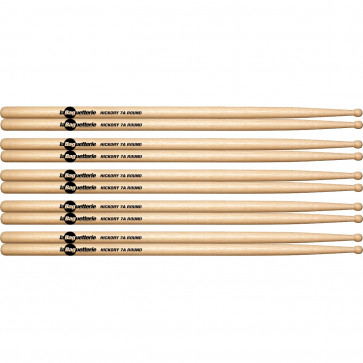 BAGUETTERIE 7A AMERICAN HICKORY ROUND TIP (5PCS)