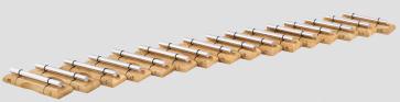 MEINL EC-SET-16 Energy Chimes - Complete Set-up - Content: 16 Energy Chimes (EC-SET-16)