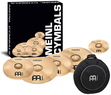 PACK MEINL CLASSICS CUSTOM BAG EDITION (H14/C16/C18/R20) + SPLASH 8 + HOUSSE