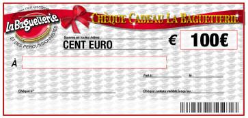 CHEQUE CADEAU BAGUETTERIE 100€