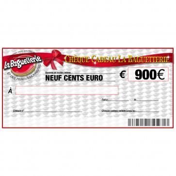 CHEQUE CADEAU BAGUETTERIE 900€