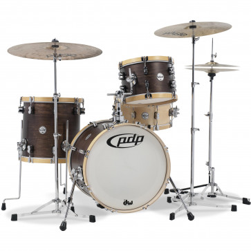 PDP CONCEPT CLASSIC 18 WALNUT STAIN MATTE NATURAL HOOPS
