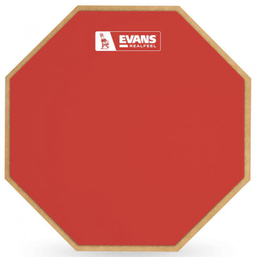 """EVANS RF-12G-RED PRACTICE PAD 12"""" REALFEEL LIMITED EDITION"""