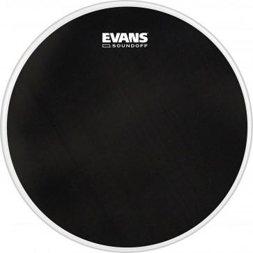 "EVANS SOUNDOFF DRUMHEAD 08"" BLACK"