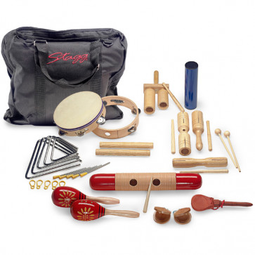 KIT PERCUSSION STAGG JUNIOR - COMPLET + HOUSSE
