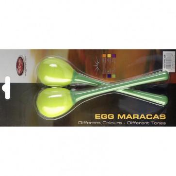 STAGG EGGMALGR MINI MARACAS GREEN - MANCHE LONG
