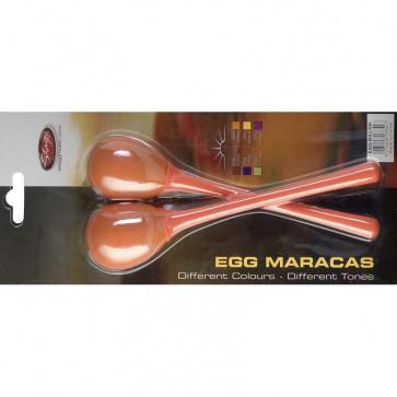 STAGG EGGMALOR MINI MARACAS ORANGE - MANCHE LONG