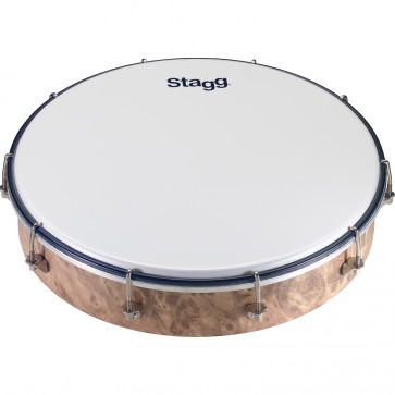TAMBOURIN STAGG ROND 12 PLASTIQUE ACCORDABLE