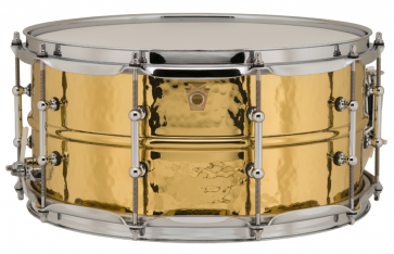LUDWIG LB422BKT 14x06.5 HAMMERED BRASS