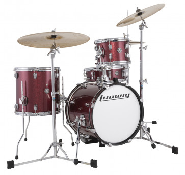 LUDWIG LC179XO25 BREAKBEATS QUESTLOVE WINE RED SPARKLE