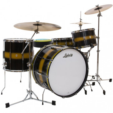 LUDWIG L6123LXU2 VINTAGE CLUB DATE ROCK22 BLACK GOLD DUCO