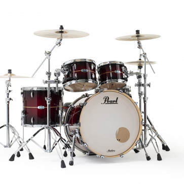 PEARL MASTERS MAPLE COMPLETE STAGE22 RED BURST STRIPE