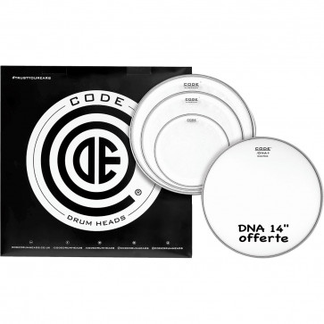 """CODE GENERATOR PACK 4PCS 10""""/12""""/14""""CLEAR +DNA14""""COATED"""