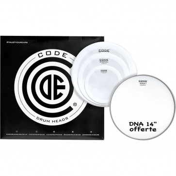"""CODE SIGNAL PACK 4PCS 10""""/12""""/14""""SMOOTH +DNA14""""COATED"""