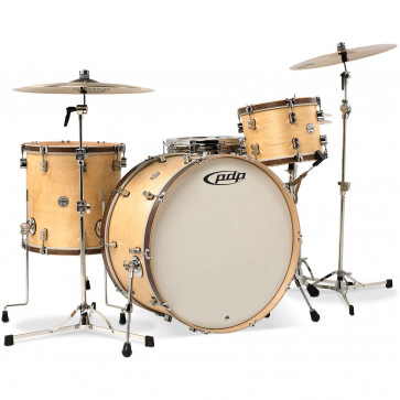 PDP CONCEPT CLASSIC 22 MATTE NATURAL WALNUT STAIN HOOPS