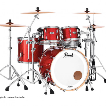 PEARL MASTERS MAPLE COMPLETE STAGE22 INFERNO RED SPARKLE