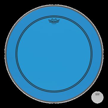 REMO POWERSTROKE III 20 COLORTONE BLUE - GROSSE CAISSE