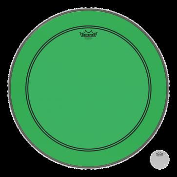 REMO POWERSTROKE III 18 COLORTONE GREEN - GROSSE CAISSE