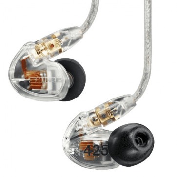 SHURE SE425-CL IN-EAR CLEAR 2Voies 29Ohms