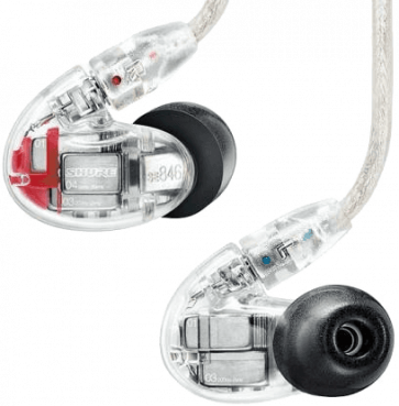 SHURE SE846-CL IN-EAR CLEAR 3Voies 9Ohms
