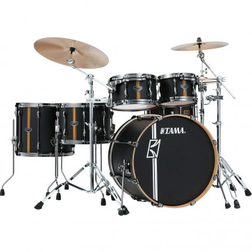 "TAMA SUPERSTAR HYPER-DRIVE DUO 22""/5PCS FLAT BLACK VERTICAL STRIPES"