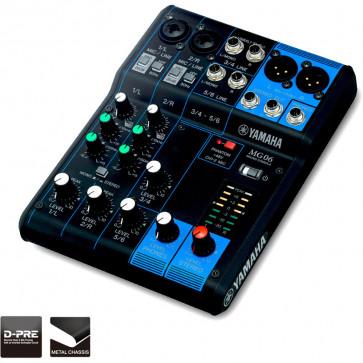 YAMAHA MG06 Console de mixage 6 canaux