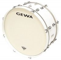 "GC GEWA MARCHING 22"" X 10"" PEUPLIER (4,9 kg) - WHITE SATIN -"