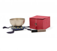 BOL TIBETAIN AFROTON SET CADEAU 8CM GOLD - BOX