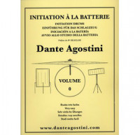 DANTE AGOSTINI INITIATION À LA BATTERIE VOL.0
