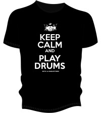 T-SHIRT BAGUETTERIE KEEP CALM & PLAY DRUMS