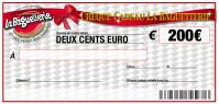 CHEQUE CADEAU BAGUETTERIE 200€