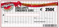 CHEQUE CADEAU BAGUETTERIE 250€