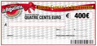 CHEQUE CADEAU BAGUETTERIE 400€