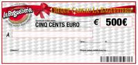 CHEQUE CADEAU BAGUETTERIE 500€