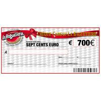 CHEQUE CADEAU BAGUETTERIE 700€