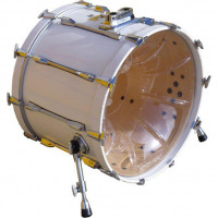 DRUMPORT BOOSTER BASS DRUM 20 CLEAR