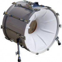 DRUMPORT BOOSTER BASS DRUM 20 WHITE - STOCK B