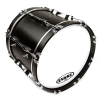 "EVANS MX2 WHITE PEAU 22"" POUR GC MARCHING"