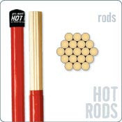 RODS PROMARK HOT RODS. 19 BRINS. DIAMETRE 1.5 CM