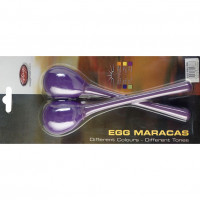 STAGG EGGMALPP MINI MARACAS  PURPLE - MANCHE LONG
