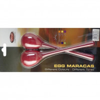 STAGG EGGMALRD MINI MARACAS RED - MANCHE LONG