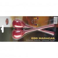 STAGG EGGMALRD MINI MARACAS RED - MANCHE LONG