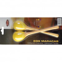 STAGG EGGMALYW MINI MARACAS YELLOW - MANCHE LONG