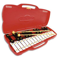 GLOCKENSPIEL FUZEAU 9878 - 25 NOTES - MALETTE ROUGE