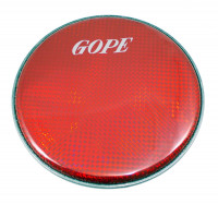 "GOPE HHOL08-R Peau Double Holographique 8"" Rouge"