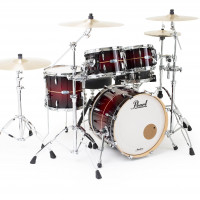 PEARL MASTERS MAPLE COMPLETE FUSION20 RED BURST STRIPE