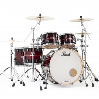 PEARL MASTERS MAPLE COMPLETE ROCK22 RED BURST STRIPE