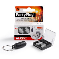 ALPINE PARTY PLUG - SILVER GREY